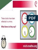 Reflected Clocks