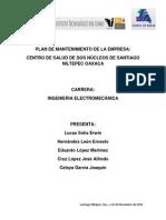Plan de Mantenimiento Centro de Salud Santiago Niltepec