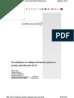 Procedimiento Inicial y Puesta en Gestion Ceragon Ip-10