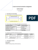 Functional and Structural Methods in Linguistics