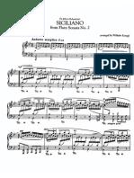 Bach - Sicilienne