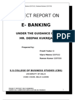 E_banking & Security threats