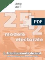 Modele Electorale II Actorii Procesului Electoral
