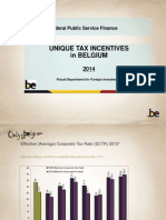 'Unique tax incentives in Belgium'