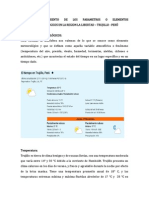 Elementos Meteorologicos en La Region La Libertad