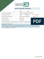 Plan Comprensivo Escolar (PCEA) 2014-2015