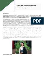 Diana Di Mauro PRESS KIT English