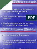Funciones de Los Fluidos de Perforacion
