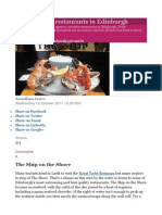 10 of the Best Restaurants in Edinburgh