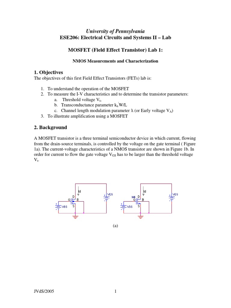 Mosfet lab 1 mosfet field effect transistor buycottarizona Image collections