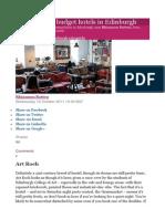10 of the best budget hotels in Edinburgh
