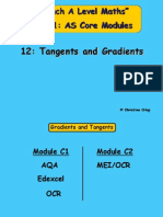 12 Tangents and Gradients