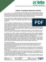 Theory Sine Sweep vs Random Vibration Testing