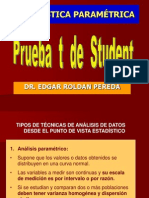 Prueba T Student Estadística médica