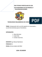 Comparación Del Uso Del Espectro No Licenciado y Uso de Herramientas Para El Monitoreo.