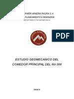 Estudio Geomecanico Comedor Nv-300