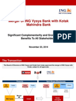 Merger With Ing Vysya Bank Presentation