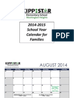 2014-15 important dates calendar for families english