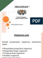 MANAJEMEN PROYEK Organisasi