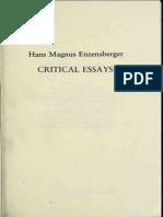 Enzensberger Hans Magnus Critical Essays