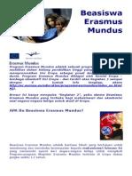 Brochure Erasmus Mundus Scholarship