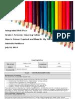 creating colour unit plan