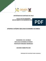 Apuntes Geologia Economica de Minas