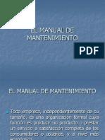 El Manual de Mantenimiento