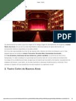 Teatros - Top 10 Parte 1