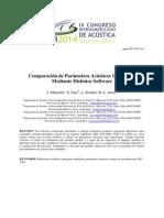 Comparación de Parámetros Acústicos Calculados Mediante Distintos Software - Mansilla, Sato, Rodiño, Arias