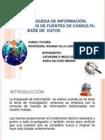 BÚSQUEDA DE INFORMACIÓN, TIPOS DE FUENTES DE.pptx