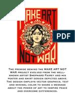 make art not war 2014