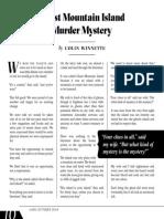 Ghost Mountain Island Murder Mystery by Colin Winnette