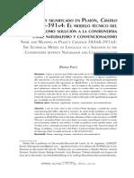 NOMBRE Y SIGNIFICADO EN PLATÓN, CRÁTILO 384A8-391A4