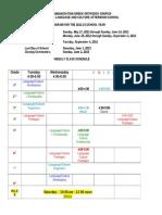 Annunciation Greek Schoool Class Schedule 2012-13