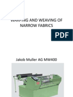 Warping & Weaving of Narrow Fabrics
