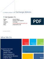 PowerShell for Exchange Admins