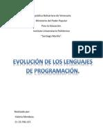 evo de lenguajes de programacion