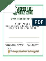 nhms technology fair 2014 certificates