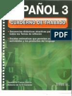 Español 3 Cuaderno de Trabajo Portada y Contraportada