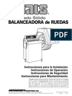 Manual Balanceadora Coats 850 en Esp