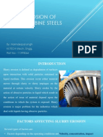 Slurry Erosion of Hydro Turbine Steels