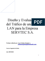 Informe del Tráfico de una Red LAN para la Empresa SERVTEC S.A.