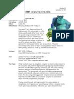 01 CS143 Course Information