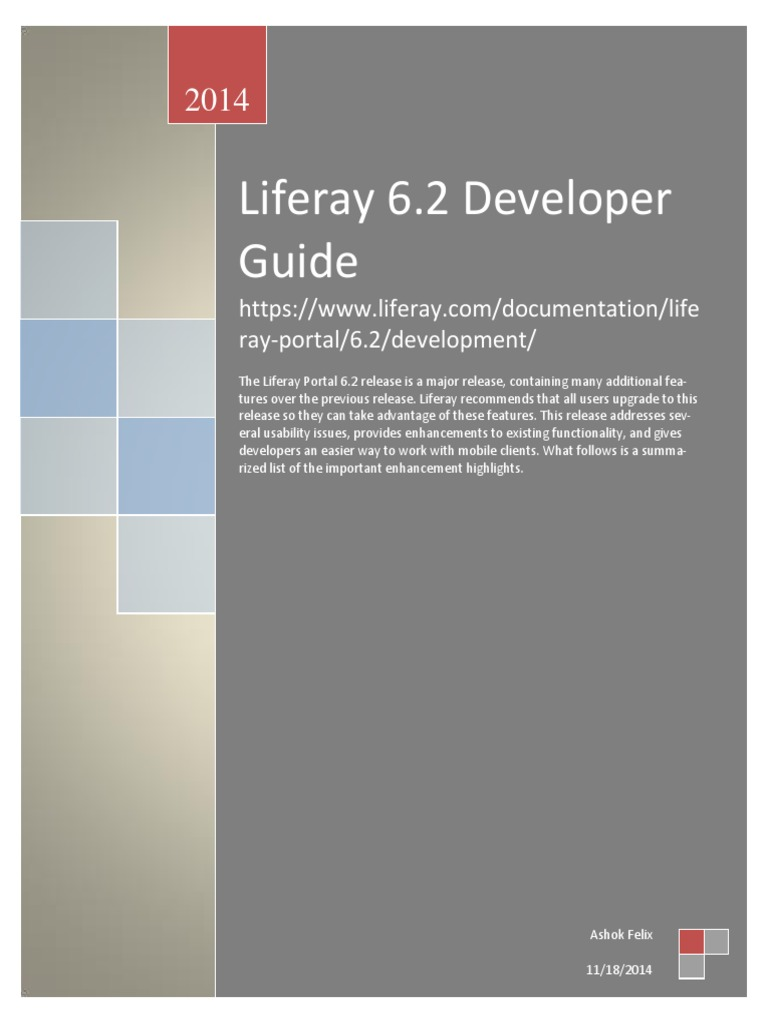 liferay 6 2 developer guide java server faces application rh scribd com Liferay Community Edition Liferay Architecture