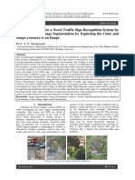 Design Approach for a Novel Traffic Sign Recognition System by Using LDA and Image Segmentation by Exploring the Color and Shape Features of an Image