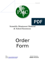 Rate List Montessori Material