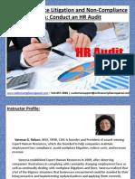 Conduct an HR audit