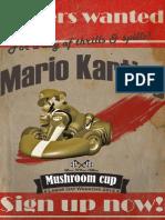 Vintage Mario Kart Poster