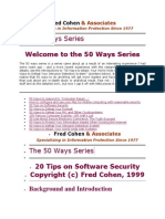 Fred Cohen 50 Ways Series
